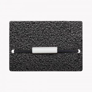 Zekkle Metal Front Pocket Wallet | Asphalt Black