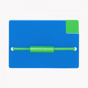 Zekkle Metal Front Pocket Wallet | Blue Bayou | Blue | Green