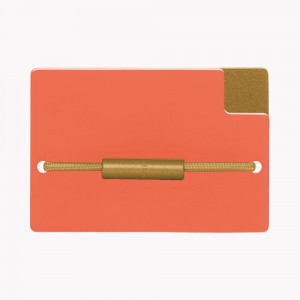 Zekkle Metal Front Pocket Wallet | California Dreamin' | Orange | Gold