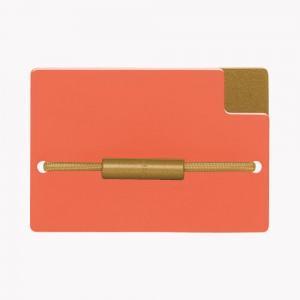 Zekkle Metal Front Pocket Wallet | California Dreamin' | Orange | Gold
