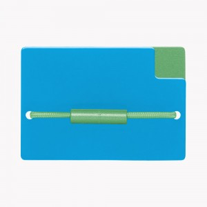 Zekkle Metal Front Pocket Wallet | Caribbean Breeze | Blue | Green