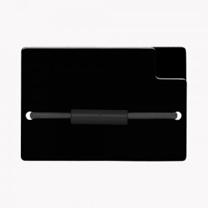 Zekkle Metal Front Pocket Wallet | Classic Black