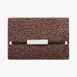 Zekkle Metal Front Pocket Wallet | Copperplate Brown
