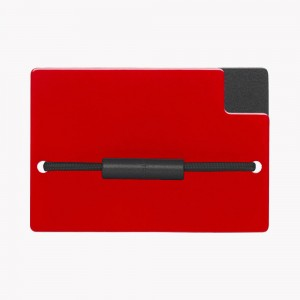 Zekkle Metal Front Pocket Wallet | Crimson Classic | Black