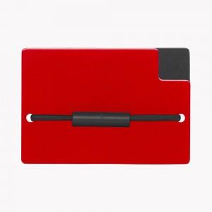 Zekkle Metal Front Pocket Wallet | Crimson Classic | Black