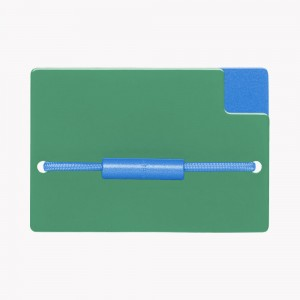 Zekkle Metal Front Pocket Wallet | Forest Haven | Green | Blue