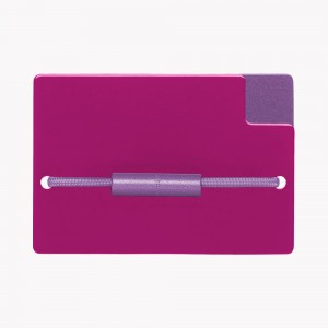 Zekkle Metal Front Pocket Wallet | Fusion | Fuchsia | Purple