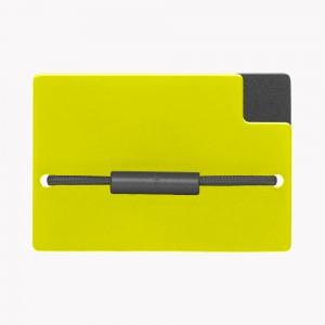 Zekkle Metal Front Pocket Wallet | Moonlight | Yellow | Black