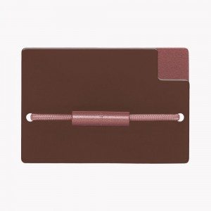 Zekkle Metal Front Pocket Wallet | Redwood Forest | Brown | Burgundy