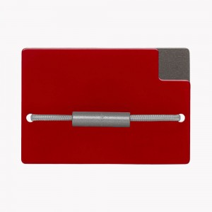 Zekkle Metal Front Pocket Wallet | Scarlet Sage
