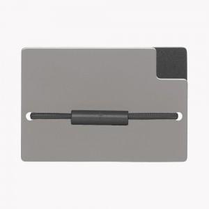 Zekkle Metal Front Pocket Wallet | Stratus | Gray | Black