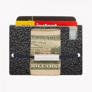 Zekkle Metal Front Pocket Wallet - Asphalt Black
